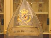 'Aqua distillata' (Distilled water) in the Real Farmacia in Madrid