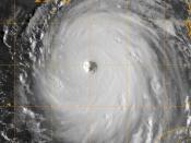 US Navy 050828-N-0000W-002 GOES-12 Satellite image of Hurricane Katrina