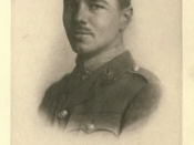English: Portrait of Wilfred Owen, found in a collection of his poems from 1920.