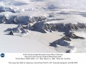 Larsen Ice Shelf in Antarctica