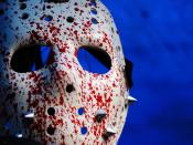English: Hockey mask, Jason Voorhees Česky: Hokejová maska, Jason Voorhees