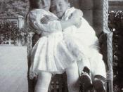 Grand Duchess Anastasia with her brother Alexei. Courtesy: Beinecke Library.