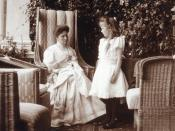 Grand Duchess Anastasia with her mother, Tsarina Alexandra, in about 1908. Courtesy: Beinecke Library.