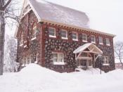 English: The C&H Mining Company provided a library and bathhouse for its employees.