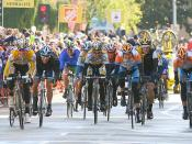 Stage 2 Finish: Michael Rogers, Chris Horner, Lance Armstrong