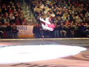 English: Katlynn performs her amazing split jump at Brian Boitano's X-Mas show in 2003