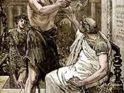 English: Caesar Refuses the Diadem of kingship offered by Marc Antony, 44 B.C.E.
