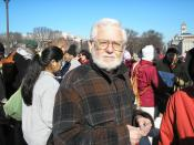 English: Author William Blum at an anti-war protest in Washington, D.C., 2007.