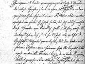 English: scan of a copy of the first page of the curriculum vitae of francois xavier collignon, hand-written by his wife