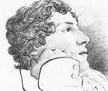 John Keats, Portrait by Charles Brown, 1819.