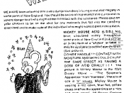 An example of a warning pamphlet/poster associated with the Mickey Mouse acid urban myth.