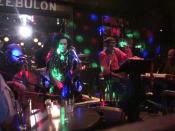 English: Melvin Van Peebles with Laxative at the Zebulon