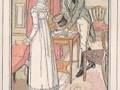English: Persuasion (last Jane Austen Novel) ch 23 : Captain Wentworth is showing his letter to Anne,