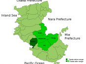 Map of Tanabe Merger 2005