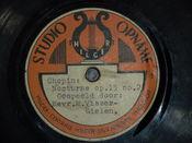 English: Hilger record label.