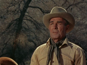 English: Randolph Scott in Buchanan Rides Alone (1958)