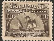 English: Newfoundland Postage stamp, 1897 issue