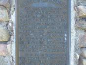 English: A photo depicting the plaque dedicated to John Cabot, at the sight at which North America was discovered.
