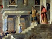 The Presentation of the Virgin Mary by Titian (1534-38, Gallerie dell'Accademia, Venice).