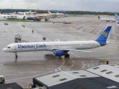Boeing 757-300 G-JMAA of Thomas Cook Airlines at Manchester Airport, England.