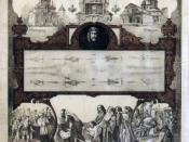 Poster advertising the 1898 exhibition of the Shroud of Turin. The poster was approved by Pope Pio IX.