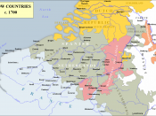 English: Map of the Low Countries c. 1700