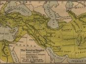 Historic map of the Achaemenid Empire Français : Carte historique de l'empire achéménide
