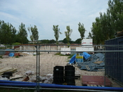 English: Building site for the construction of the Alton College Building of Engineering and Design Technology in Alton, Hampshire, England. The construction was stopped due to a delay in funding from the Learning and Skills Council.