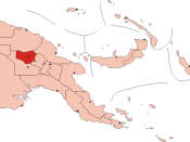 Location of Enga Province within Papua New Guinea.
