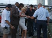 MIAMI (Aug. 29, 2004) -- MTV 2004 Video Music Awards performer Jessica Simpson poses for a picture at ISC Miami. USCG photo by PA2 Anastasia Burns.
