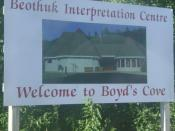 Boyd's Cove Welcome Sign