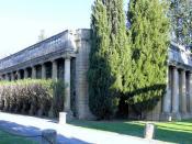 Français : Argilliers - Château de Castille - Colonnades de l'entrée