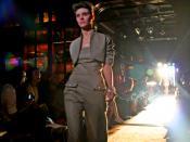 Alison Nix modeling in Ruffian spring 2008 show, New York Fashion Week.