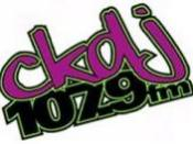 English: The logo for CKDJ 107.9, a new music radio station based in Ottawa, Ontario Canada. CKDJ-FM is licensed by the CRTC as a Campus-Collegiate radio station.