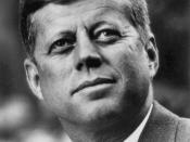 Photo portrait of John F. Kennedy, President of the United States.