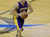 English: Luke Walton playing with the Los Angeles Lakers