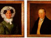 Two oil paintings from an unknown comtemporary painter, portraits of Teresia Müller and József Semmelweis, the parents of Ignác Semmelweis