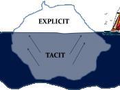 English: Tacit knowledge vs. Explicit knowledge Română: Cunoașterea tacită vs. Cunoașeterea explicită
