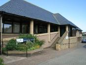 English: Eyemouth Day Hospital The day hospital in Houndlaw Park was officially opened on 28th September 1995 and is linked in with the adjacent health centre. Patients may be seen and treated by a range of specialist staff including doctors, nurses, phys