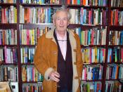 Frank McCourt at New York City's Housing Works bookstore for a tribute to recently-deceased Irish poet Benedict Keily. Photographer's blog post about the death of Frank McCourt and the memory of this photo.