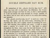 Double distilled bay rum [back]