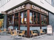 English: Coffee Republic shop on George Street. 2000