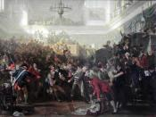 Robespierre overthrowed during a Session of the Convention nationale