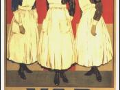 First World War recruitment poster for the Voluntary Aid Detachment .