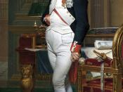 The Emperor Napoleon in His Study at the Tuileries, by Jacques-Louis David, 1812