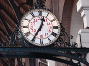 Clock in Kings Cross railway station
