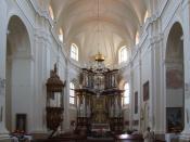 English: Church of Visitation of Holy Virgin Mary - interior