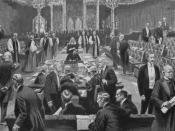 English: Passing of the Parliament Bill in the House of Lords, 1911.