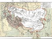 The Mongol Empire included all China. The gray area is the later Timurid empire