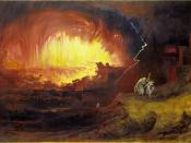 The Destruction Of Sodom And Gomorrah, a painting by John Martin (painter), died 1854, thus 100 years.